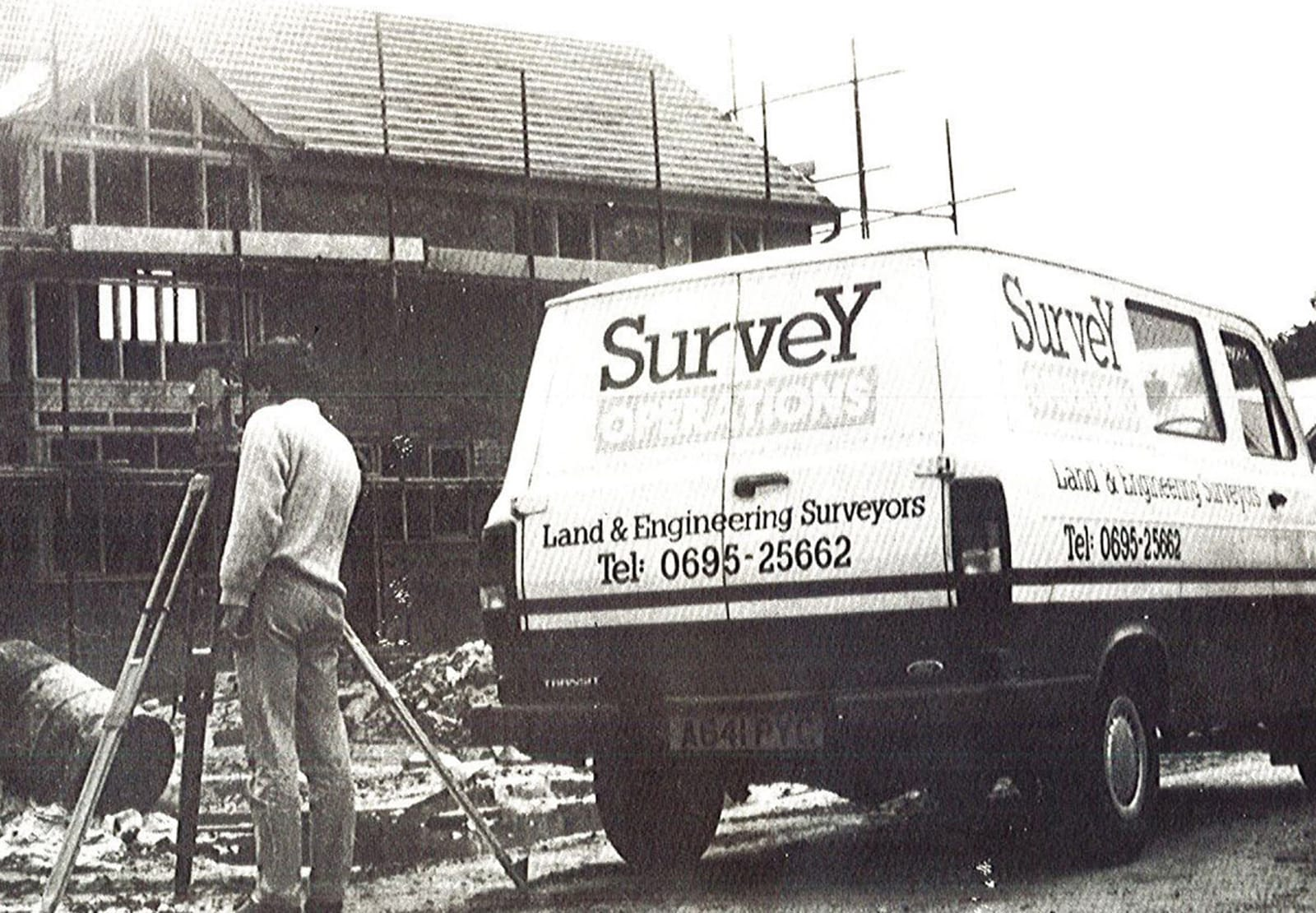 Survey Operations founding partner with the first van.