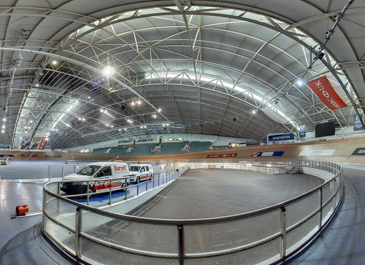 Survey Operations 3D Laser scan for a velodrome.