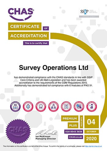 Survey Operations CHAS certification-2018