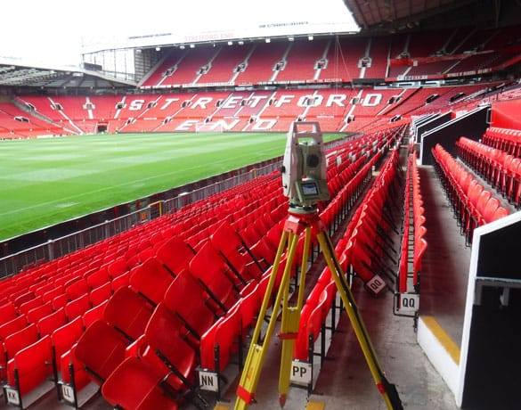 Survey Operations Contruction survey at Old Trafford, Manchester Uniteds football stadium.