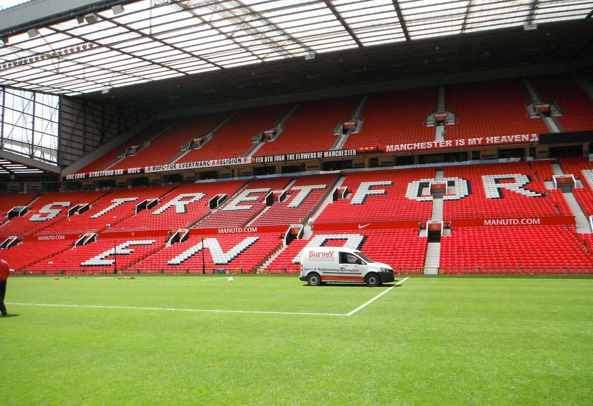 Engineering survey at Old Trafford, Manchester.