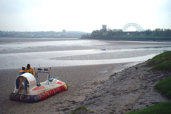 Survey Operations Hovercraft ready to do Inland Hydrographic surveying.