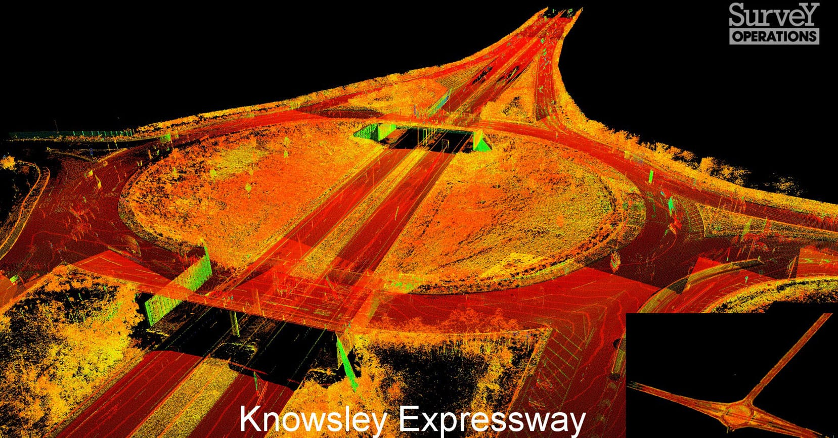 Survey Operations mobile mapping of hte Knowsley Expressway.