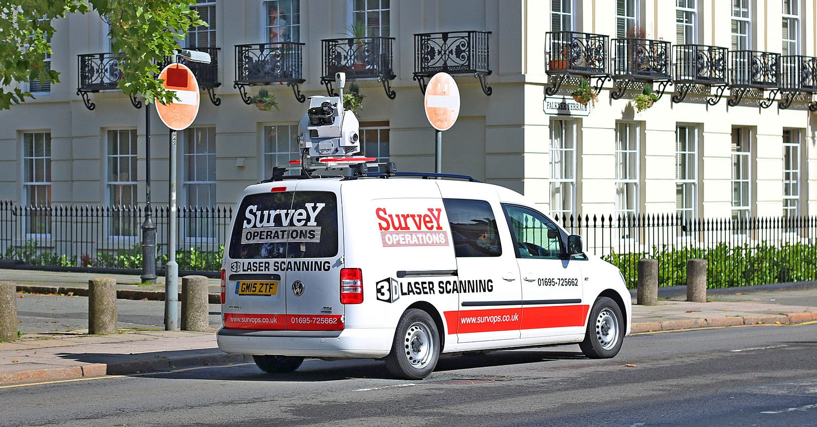 Survey Operations mobile mapping van.