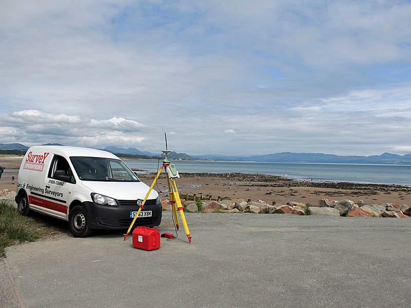 Survey Operations van and equipement used for coastal surveys.