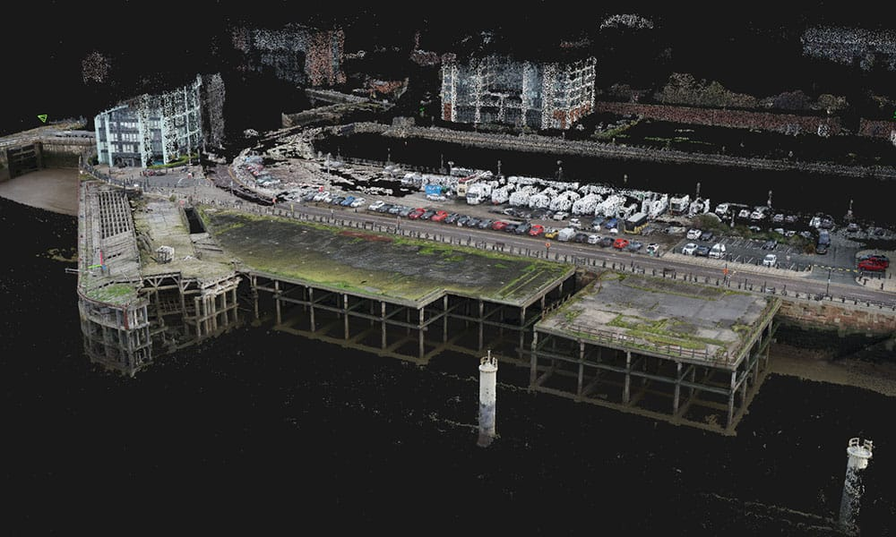 Point Cloud Production of Liverpool Docks by Survey Operations.