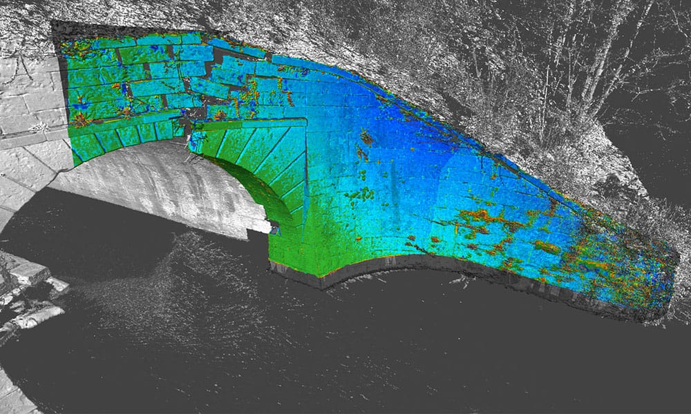 Point Cloud Production on a bridge by Survey Operations.