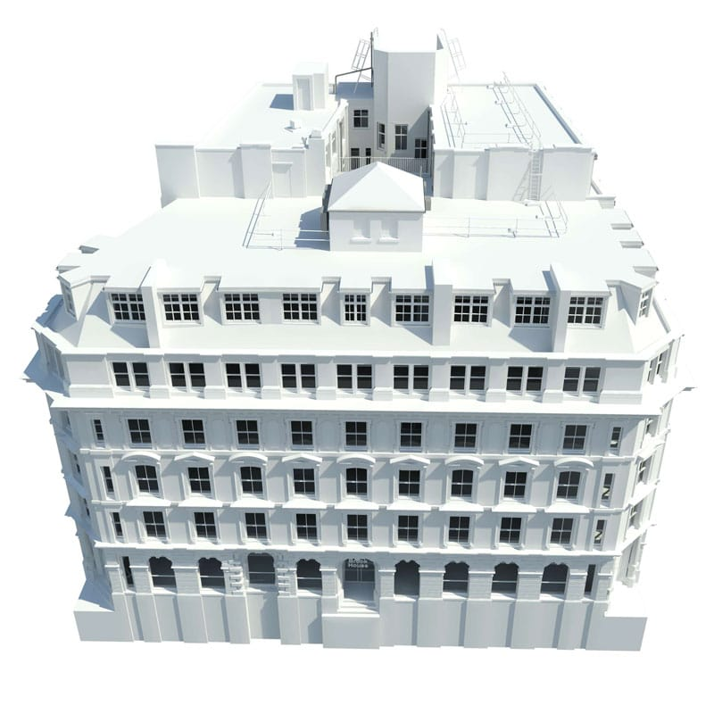 Revit Model Production of a building by Survey Operations.