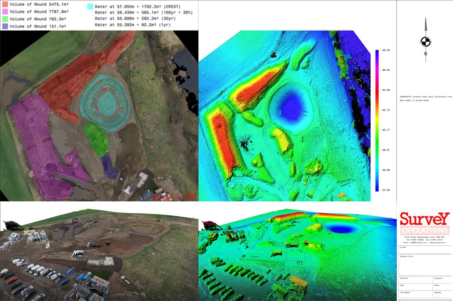 Example of ground modelling by Survey Operations.