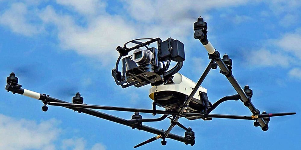 Example of a drone that is used for video products.