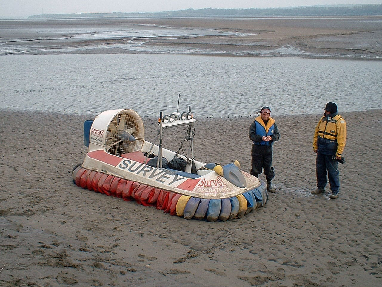 Image of the Survey Operations hovercraft used for Coastal Monitoring.